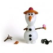 Boneco Olaf 14 Peças - Brinquedo Frozen - Disney - Elka