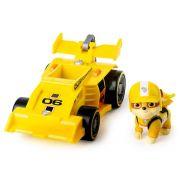 Patrulha Canina - Rubble - Boneco + Veículo - Race Go Deluxe