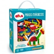 Pinos Mágicos 500 peças - Brinquedo Blocos de Montar - Elka