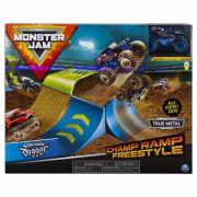 Pista Monster Jam - Playset Champ Ramp Freestyle - Original