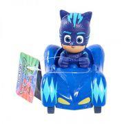PJ Masks - Mini Veículo e Figura Menino Gato - Original DTC