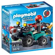 Playmobil 6879 City Action  - Fugitivo c/ Quadriciclo Polícia