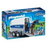 Playmobil 6922 - Policia Montada Com Trailer - City Action