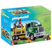 Playmobil - Caminhão Porta Madeira - 19 Peças - Original
