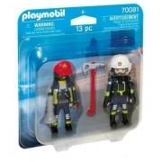 Playmobil - Pack 2 Figuras - Bombeiros de Resgate