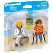 Playmobil - Pack 2 Figuras - Bonecos Médico e Paciente