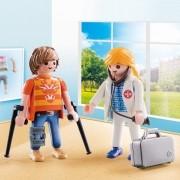 Playmobil - Pack 2 Figuras - Médico e Paciente