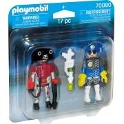 Playmobil - Pack 2 Figuras - Policial Espacial e Ladrão