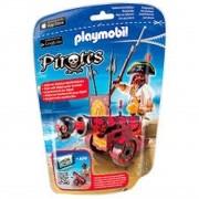 Playmobil Pirates - Pirata Com Canhão Interativo - 6163