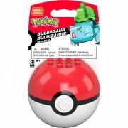 Pokemon Boneco Bulbasaur e Pokebola - Mega Construx - Mattel