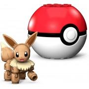Pokemon Boneco Eevee e Pokebola - Mega Construx - Mattel
