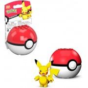 Pokemon Boneco Pikachu e Pokebola - Mega Construx - Mattel