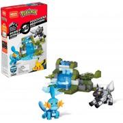 Pokémon de Montar Mega Construx - Mudkip Vs Poochyena Mattel