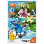 Pokémon - Mega Bloks Construx - Totodile e Snubbull - Mattel