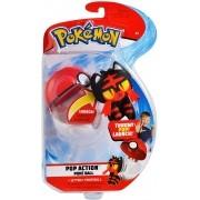 Pokémon Pop Action Litten + Pokebola - Mundo plush Original