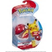 Pokémon Pop Action Pikachu + Pokebola - Mundo plush Original