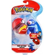 Pokémon Pop Action - Popplio + Pokebola Mundo plush Original