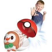 Pokémon Pop Action - Rowlet + Pokebola  Mundo plush Original