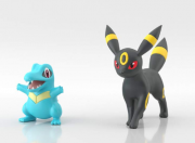 Pokemon Scale World  Johto - Totodile & Umbreon - Original Bandai