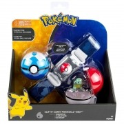 Pokemon Squirtle - Kit Cinturão - Cinto Porta Pokebola Tomy