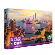 Quebra Cabeça - Luzes de Xangai Paisagem 1500 Peça - Toyster