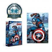 Quebra Cabeça Vingadores Capitão America Marvel - 200 Peças
