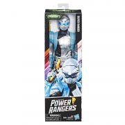 Power Rangers Beast - Gigante 30 cm - Silver Ranger Prata - Hasbro