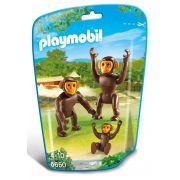 Saquinho Playmobil Animais Zoo - Família de Macacos - 6650
