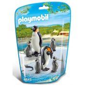 Saquinho Playmobil Animais Zoo - Família Penguim 6649