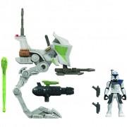 Star Wars Capitão Rex AT-RT Mission Fleet Figura Nave Hasbro