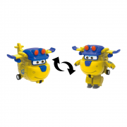 Super Wings Donnie - Mini Boneco Transformável - 6cm - Fun