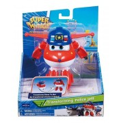 Super Wings Jett Policial - Boneco Transformável 13cm - Fun