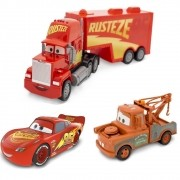 Trio Radical Carros Disney Pixar - Mcqueen, Mate e Mack Cars