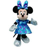 Ty Beanie Babies - Pelúcia Minnie Azul - 20 cm - Original