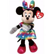 Ty Beanie Babies - Pelúcia Minnie Colorida 20 cm - Original