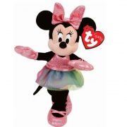 Ty Beanie Babies - Pelúcia Minnie Rosa - 20 cm - Original
