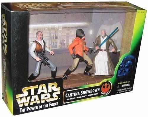 Star Wars Power of the Force - Cantina Showdown Dr. Evazan , Ponda Baba E Obi Wan - Hasbro