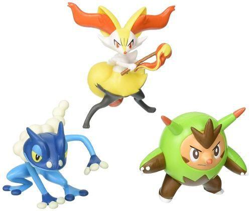 Pokemon - Pack 3 Bonecos - Quilladin, Braixen E Frogadier 1