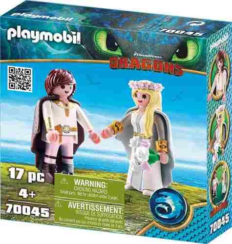 Playmobil Como Treinar Seu Dragão 3 - Casal de Noivos Soluço e Astrid