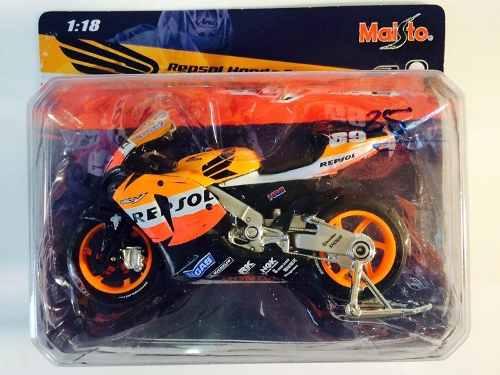 Miniatura Honda RC211V - Repsol Honda Team 2006 - Escala 1:18 - Maisto