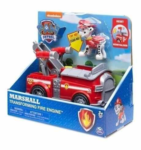 Marshall - Patrulha Canina - Veiculo Transforming Fire Engine