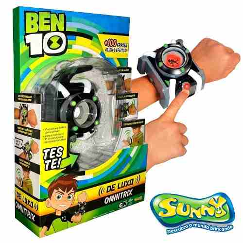 Relogio Ben 10 - Omnitrix De Luxo C/ Luz E Som- Sunny Original