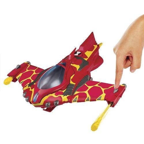 Ben 10 Veiculo + Figura- Avião Do Chama + Boneco Do Chama
