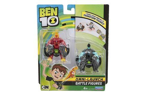 Ben 10 - 2 Bonecos De Batalha Para Omnitrix Lançador - Sunny