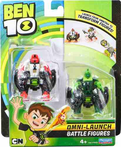 Ben 10 - 2 Bonecos De Batalha P/ Omnitrix Lançador - Sunny 1