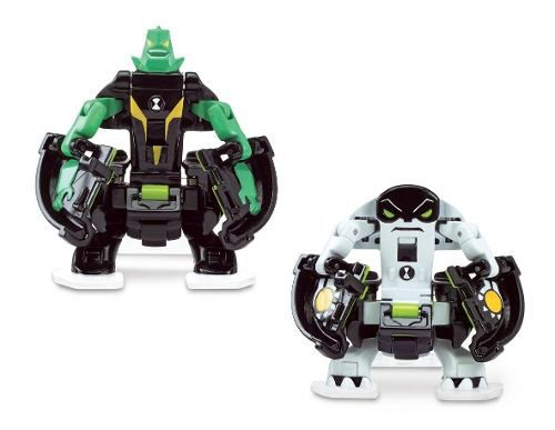 Ben 10 - 2 Bonecos De Batalha P/ Omnitrix Lançador - Sunny 2
