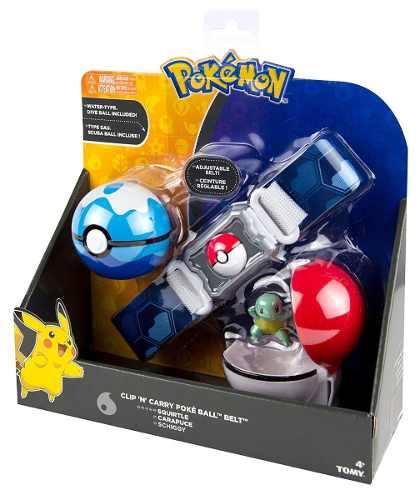 Pokemon - Kit Ciniturão De Ação- Cinto Porta Pokebola- Tomy1