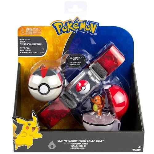 Pokemon - Kit Ciniturão De Ação- Cinto Porta Pokebola- Tomy