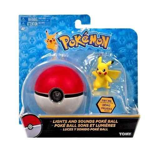 Pokemon - Pokebola Com Luz E Som + Pikachu - Original Tomy