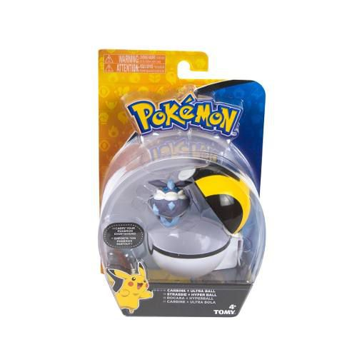 Pokemon - Clip Carry - Carbink + Pokebola Ultra Ball - Tomy